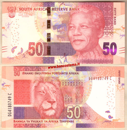 South Africa P140a 50 Rand nd 2013 unc