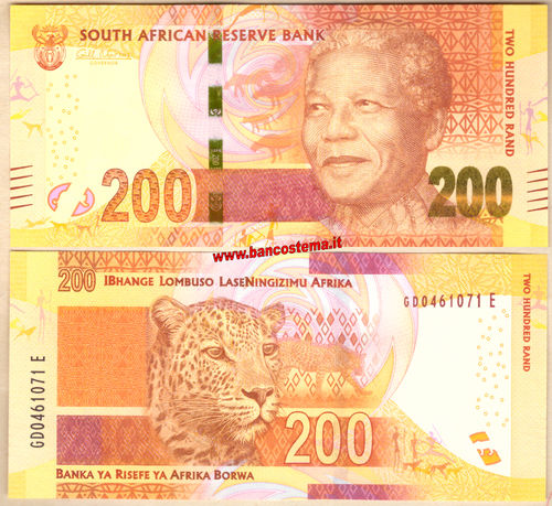 South Africa P142a  200 Rand  nd 2013 unc