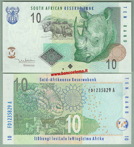 South Africa P128a 10 Rand nd 2005 unc