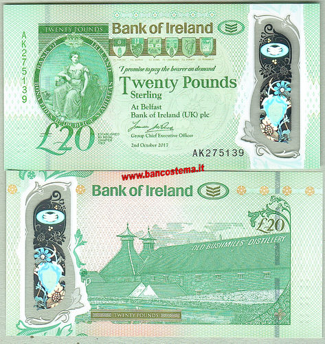 Northern Ireland 20 Pounds Bank of Ireland 02.10.2017 polymer unc