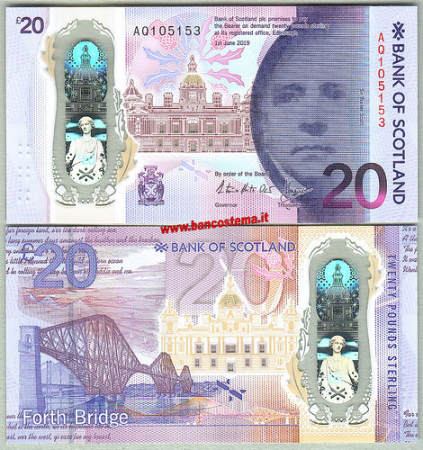 Scotland 20 Pounds 01.06.2019 (2020) BOS unc polymer