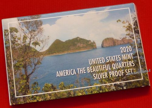 Usa States mint America the Beautiful Quarters silver Proof 2020 set
