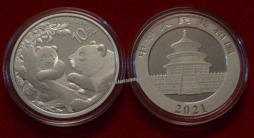 China 10 Yuan 2021 oncia panda fdc